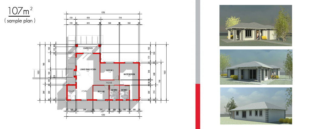 villa benisie - sample plans -  website